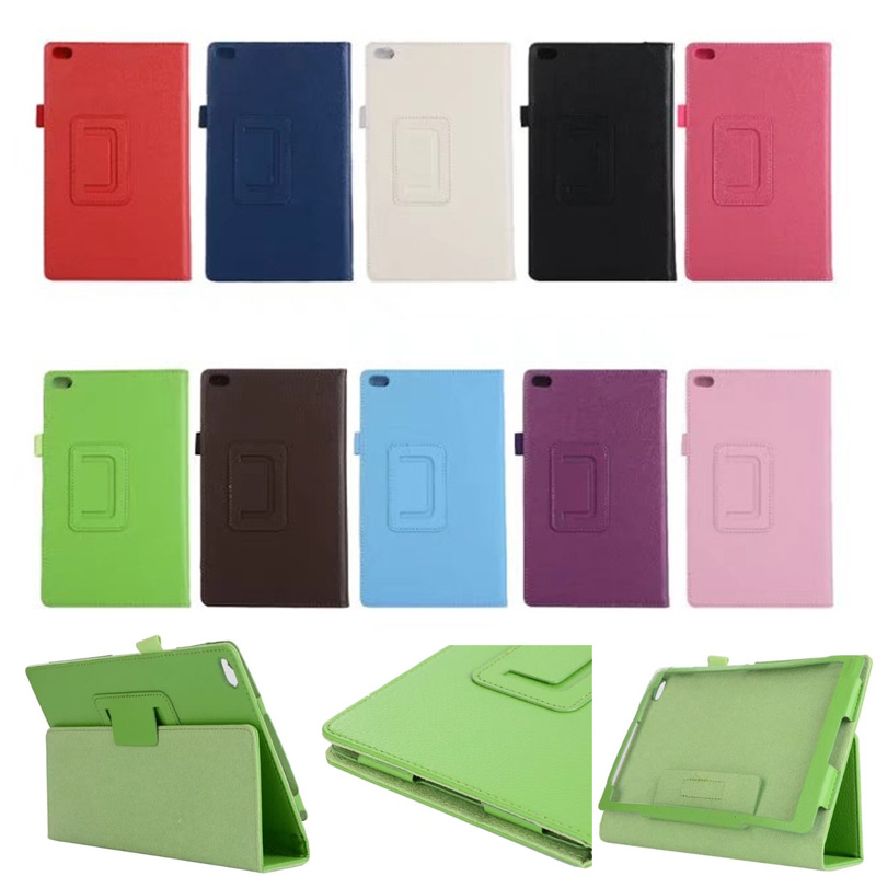 Case For Lenovo Tab 4 8 TB-8504X Litchi Leather Case Flip Cover for Len