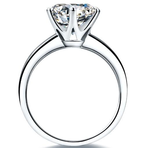 Real 100% White Gold Ring18KRGP Stamp Rings Set 3 Carat CZ Diamant Wedding Classic Rings