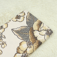1 Meter Export Canvas Coarse Cloth With European Khaki Grey Big Floral Handmade DIY Sofa Pillow