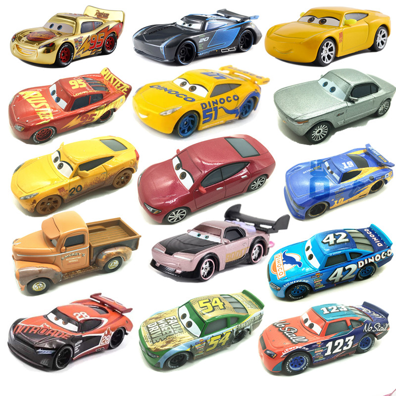 New Disney Pixar Car 3 Toy Car McQueen 39 Kind 1:55 Die Cast Metal Alloy Model Toy Car 2 Children's Birthday Christmas Gift