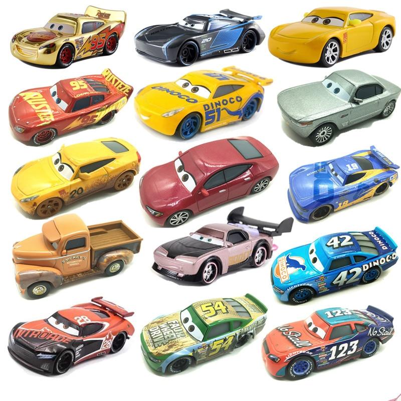 New Disney Pixar Car 3 Toy Car McQueen 39 Kind 1:55 Die Cast Metal Alloy Model Toy Car 2 Children's Birthday Christmas Gift
