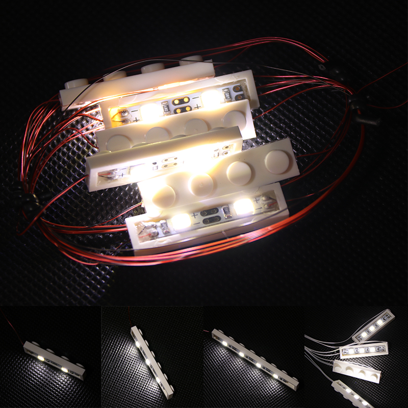 6 In 1 Set LED Light For Lego 10220 42083 Building Block Compatible 21001 20001 Creator City House Technic Car Battery Box Toys
