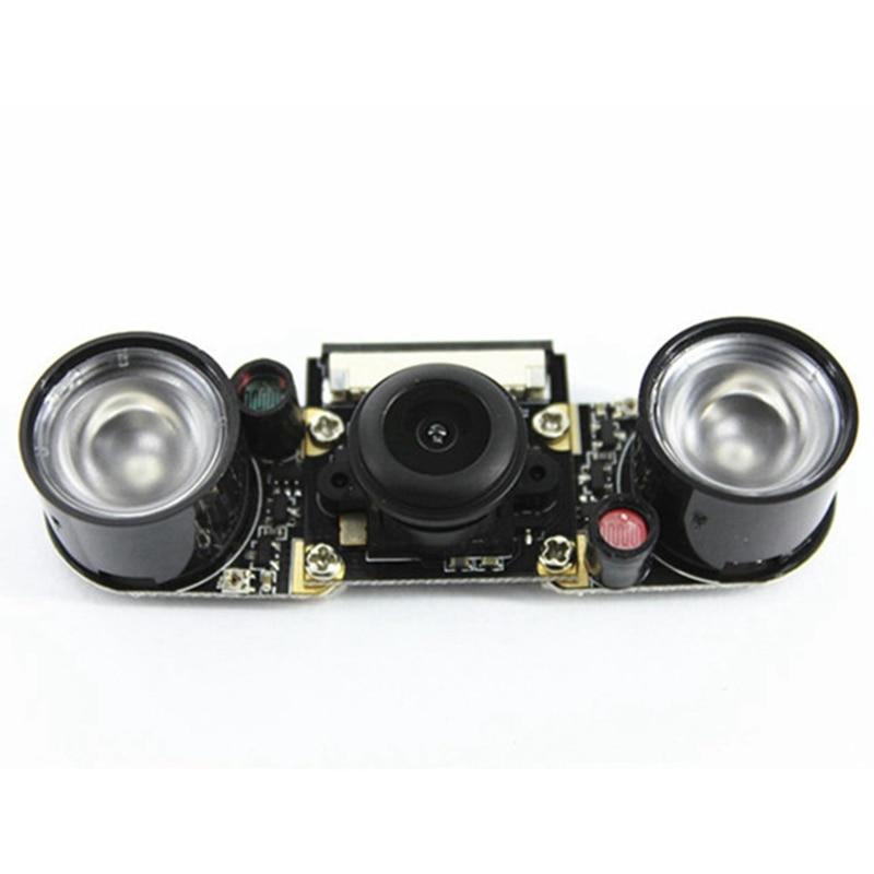 Smart Raspberry Pi Infrared Night Camera Module 5 Mp Wide Angle 130 Degree Fisheye With Ir Sensor Led Light