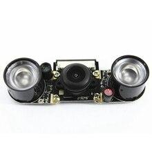 Smart Raspberry Pi Infrared Night Camera Module 5 Mp Wide Angle 130 Degree Fisheye Camera With Infrared Ir Sensor Led Light v03 3 channel ctrt5000 infrared ir tracking sensor module black