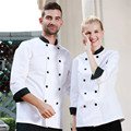 Free Shipping 2015 New Design Short Sleeve Chef Uniform Chef Work Unisex Cook Wear Personalized Custom Print Embroidery M0396