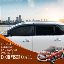 door insor cover rain guard high quality black ABS plastic car accessories modified decorations for ford everest endeavour 2015