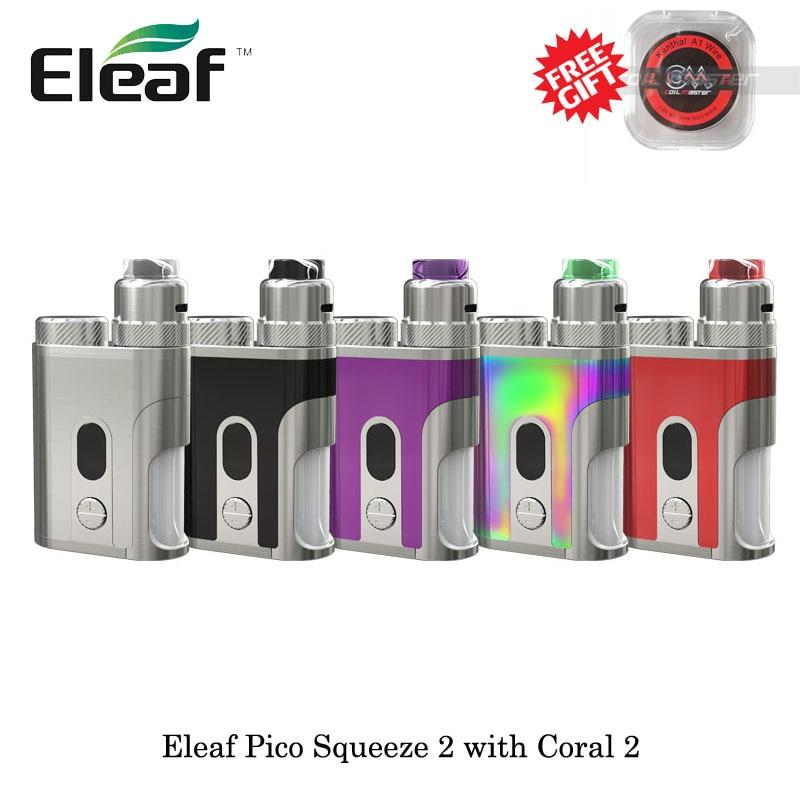 Cigarettes électroniques 100 W Eleaf Pico presser 2 avec vaporisateur Coral 2 RDA Vape alimenté par une seule batterie 21700/18650 VS ijust 3