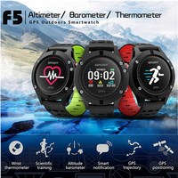 NO 1 F5 Smart Watch IP67 Heart Rate Monitor GPS Multi Sport Mode OLED Altimeter Bluetooth
