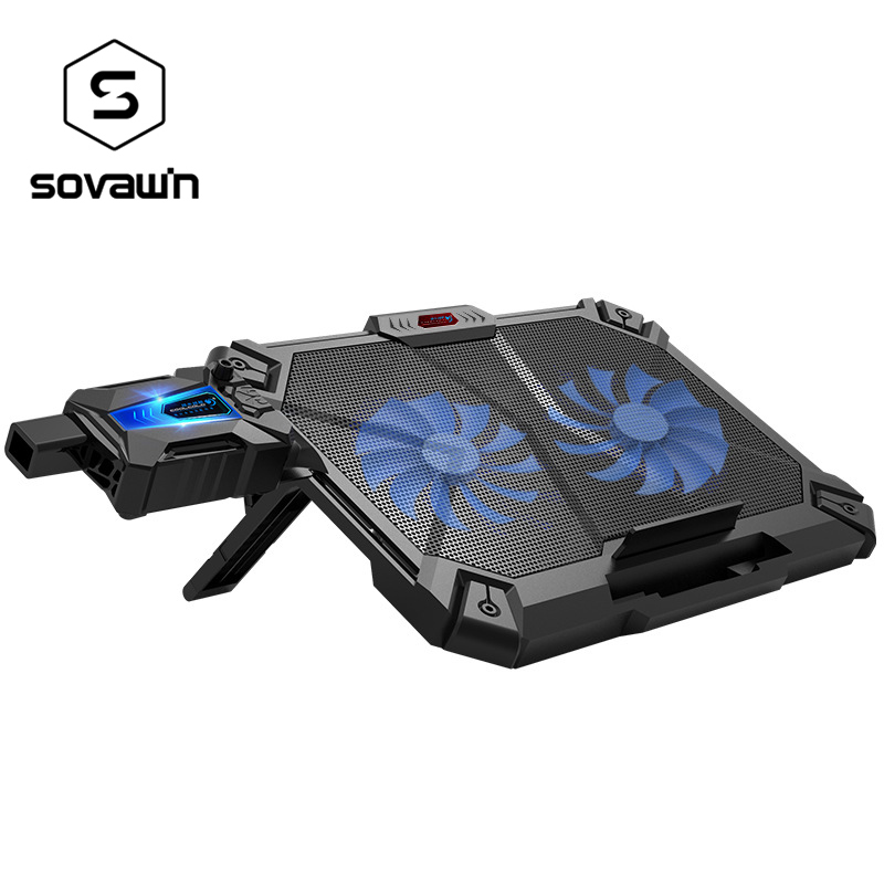 15 6 17 inch Laptop Cooler Pad Double Fan Cooling Base External Air Cooled Cool Adjustable