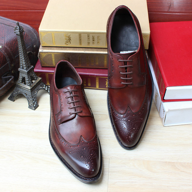 Best Quality Mens Fashion Goodyear Genuine Leather Dress Shoes Men