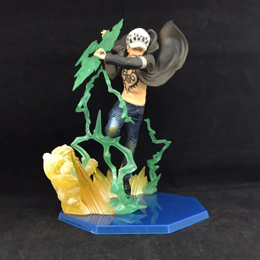 Free Shipping 7 One Piece Anime Trafalgar Law F. Zero Gamma Knife Battle Ver. Boxed 18cm PVC Action Figure Model Doll Toy Gift free shipping cool 8 7 one piece marine fleet admiral akainu sakazuki battle ver boxed pvc action figure collection model toy