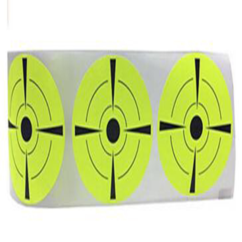 Target Stickers 3 quot Inch Round Stickers Target Pasters Fluorescent yellow and Black gun shooting target stickers in Stationery Stickers from Office amp School Supplies