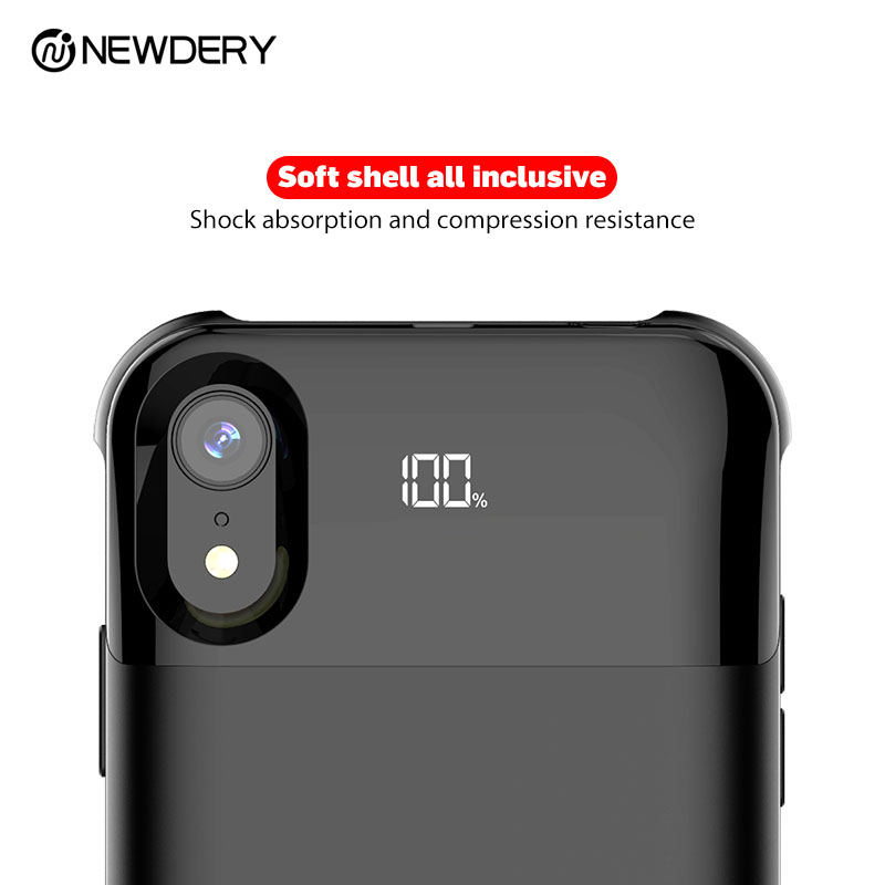 Wireless magnetic battery case for iphone X/XS XR XS MAX 5000mAh charging case with digital display functionWireless magnetic battery case for iphone X/XS XR XS MAX 5000mAh charging case with digital display function