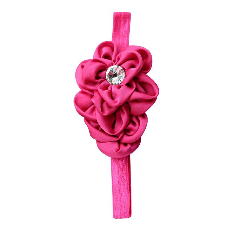 YOST Bandeau des Fleurs pour Bebes Filles Mousseline de Soie Beaute(Rose-Rouge)