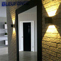HOT High quality LED Indoor Wall Lamps 3W  Up and Down Side Modern Aluminum  85-265V Warm white  Colorful Wall Lights  wy276