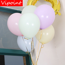 VIPOINT PARTY 100pcs 10inch pink blue green latex balloons wedding event christmas halloween festival birthday party HY-358