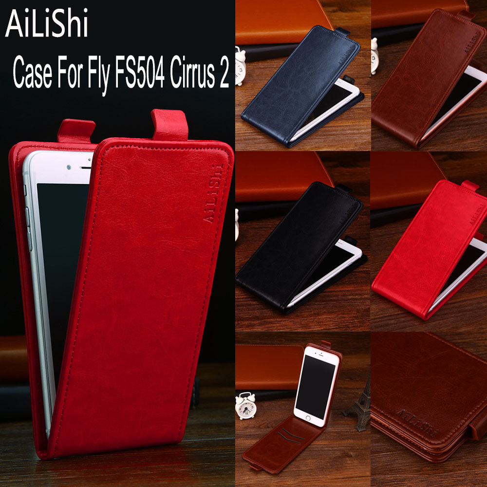 AiLiShi Factory Direct! Case For <font><b>Fly</b></font> FS504 Cirrus 2 <font><b>FS</b></font> <font><b>504</b></font> Leather Case Up And Down Flip 100% Special Phone Bag + Tracking image