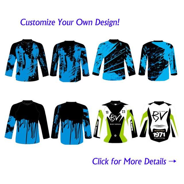 7b1310b08ec13 Personalizado Sublimation Impressão Homens Mulheres MTB Mountain Bike  Motocicleta Motocross BMX Downhill DH Jersey Personalizado Jerseys