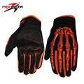 Pro-biker motocross off-road racing guantes cráneo estilo de pilotaje de motos guantes de la bicicleta mtb bike ciclismo guantes llenos del dedo