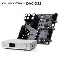 GUSTARD DAC-X22 ES9038PRO I2S XMOS DAC HiFi PCM384K DSD512 DOP Decodificador