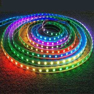 Image 5 - DC5V WS2812B 30/60/144 leds/m Smartled pixel RGB individually addressable led strip light Black/White PCB IC WS2812 pixel strips