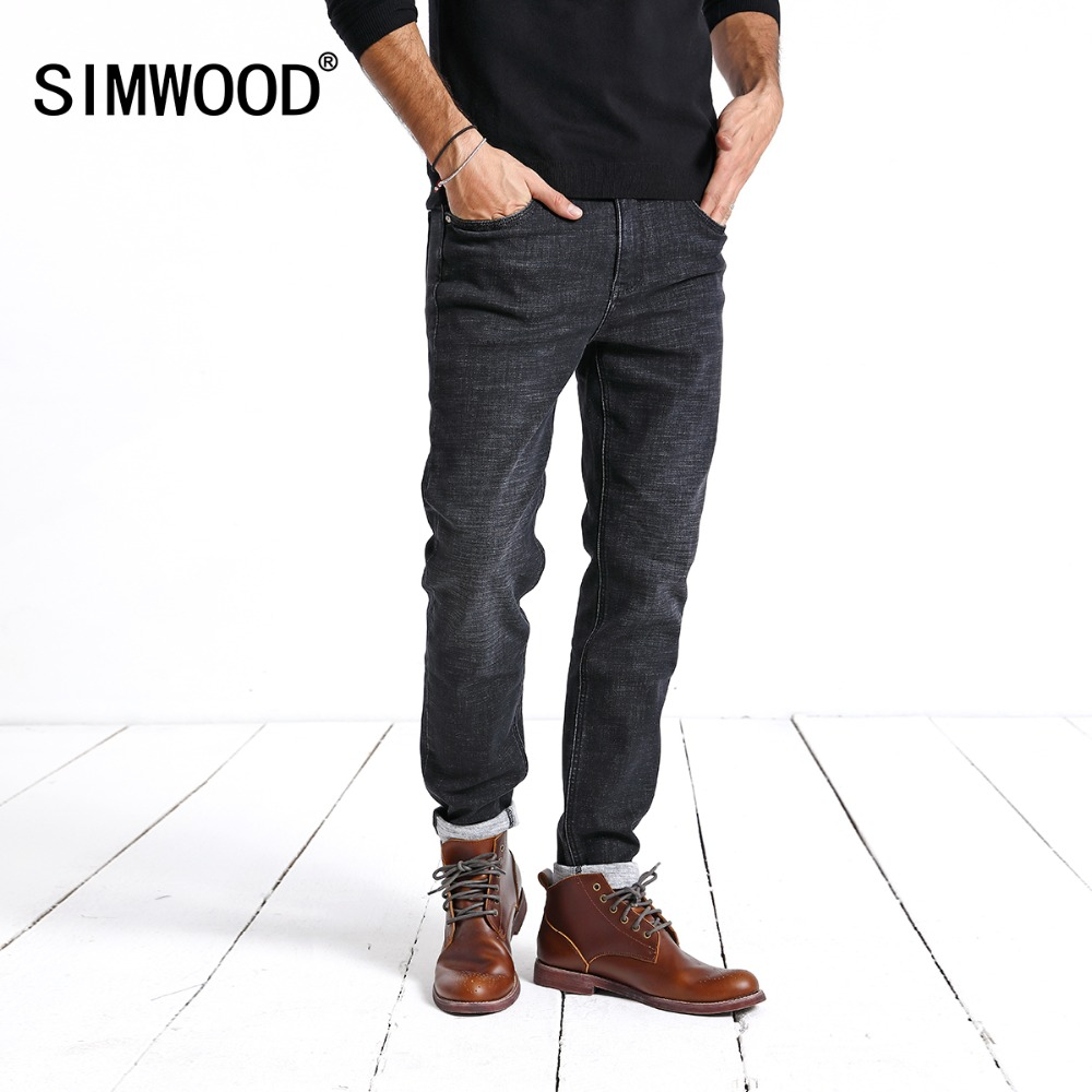 SIMWOOD Новое поступление Для мужчин джинсы 2019 Лидер продаж джинсовые штаны для Для мужчин мода Slim регулярные Повседневное брендовые джинсы бр...