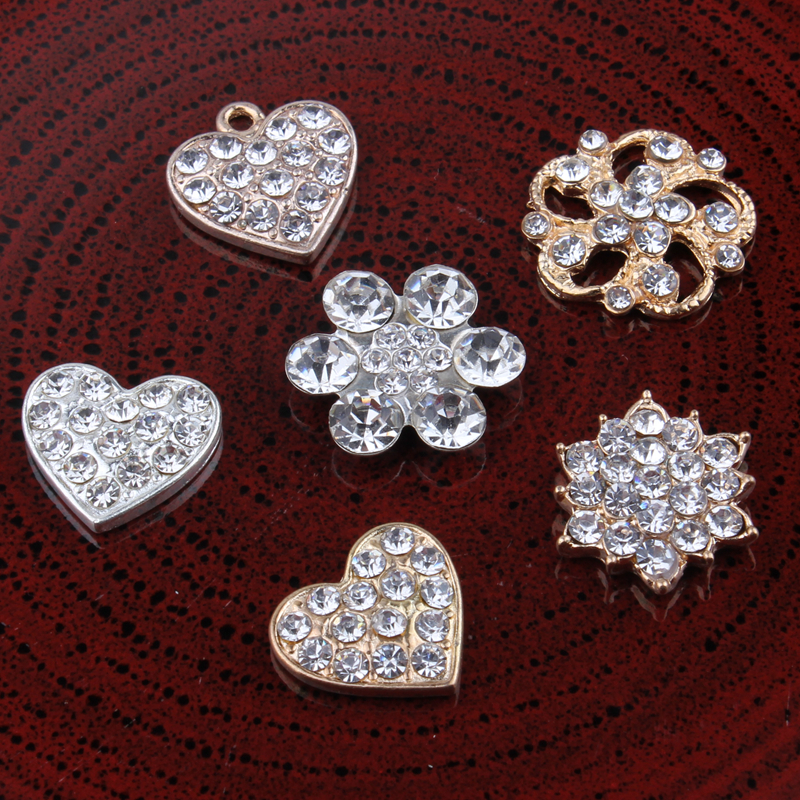 120pcs Bling Horse Eye Decorative Flatback Crystal Rhinestone Buttons