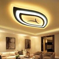 Спальня гостиной потолочные лампы Современная Блеск де плафон moderne приглушить современные акриловые светодио дный потолочный светильник д