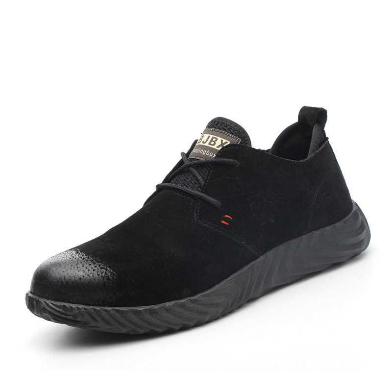 Модная мужская стальная безопасная обувь пуленепробиваемый материал подошвы легкая изоляция сайт сварщика рабочие ботинки защитные