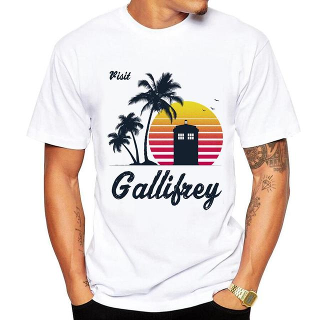 Casual men's t-shirt new short-sleeved Summer Retro Style Synthwave 1