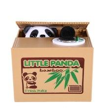 Ahorro de Caja de Ahorro de Caja de Ahorro de Pequeño Panda travesura Juguete Divertido Robó el Banco Guarro de La Moneda caja de Animales Panda Eléctrico Automático Como regalo