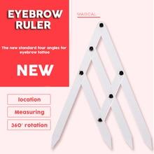 1pcs plastic Eyebrow Microblading Permanent Makeup Measure Tool Mean  Divider Grooming Stencil Shaper