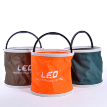 Portable Folding Canvas Bucket Fishing Accessories Tackle For Live Fish Water Storage