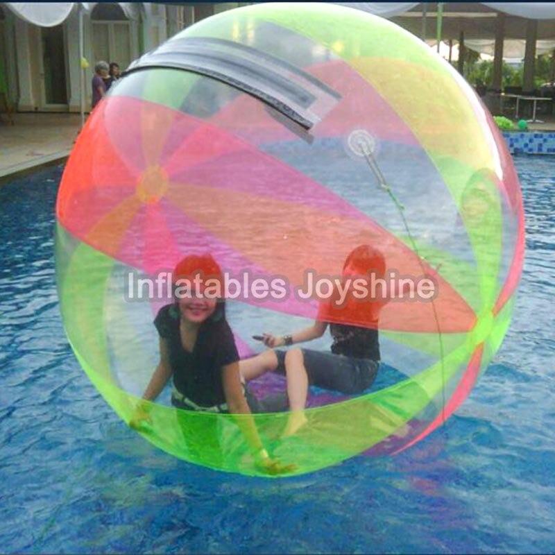 Boule gonflable de marche de l'eau de PVC de 2m résistant à l'usure joue la boule de danse avec la tirette pour la piscine extérieure