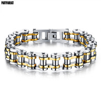 Partyfareast Queen Top Quality Men S Motor Bike Chain Motorcycle Chain Bracelet Bangle Stainless Steel Jewelry