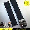 Водонепроницаемая Резиновая Лента Спорт Замена Человек для Tissot T-Race Сенсорный Спортивные Часы T013 Силиконовые Watchstrap Orange Черный + инструменты