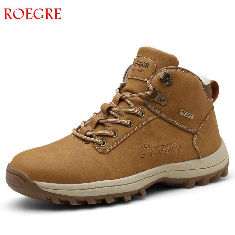 Men Hiking Shoes Waterproof Leather Shoes Climbing & Fishing Shoes New Popular Outdoor Shoes Man High Top Winter Boots Large