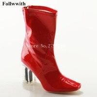 ربيع/خريف الرجعية pvc شفافة المرأة موضة أحذية الكاحل واضح للماء التجارية أحذية الاتحاد الأوروبي حجم 35 ~ 42 المرأة