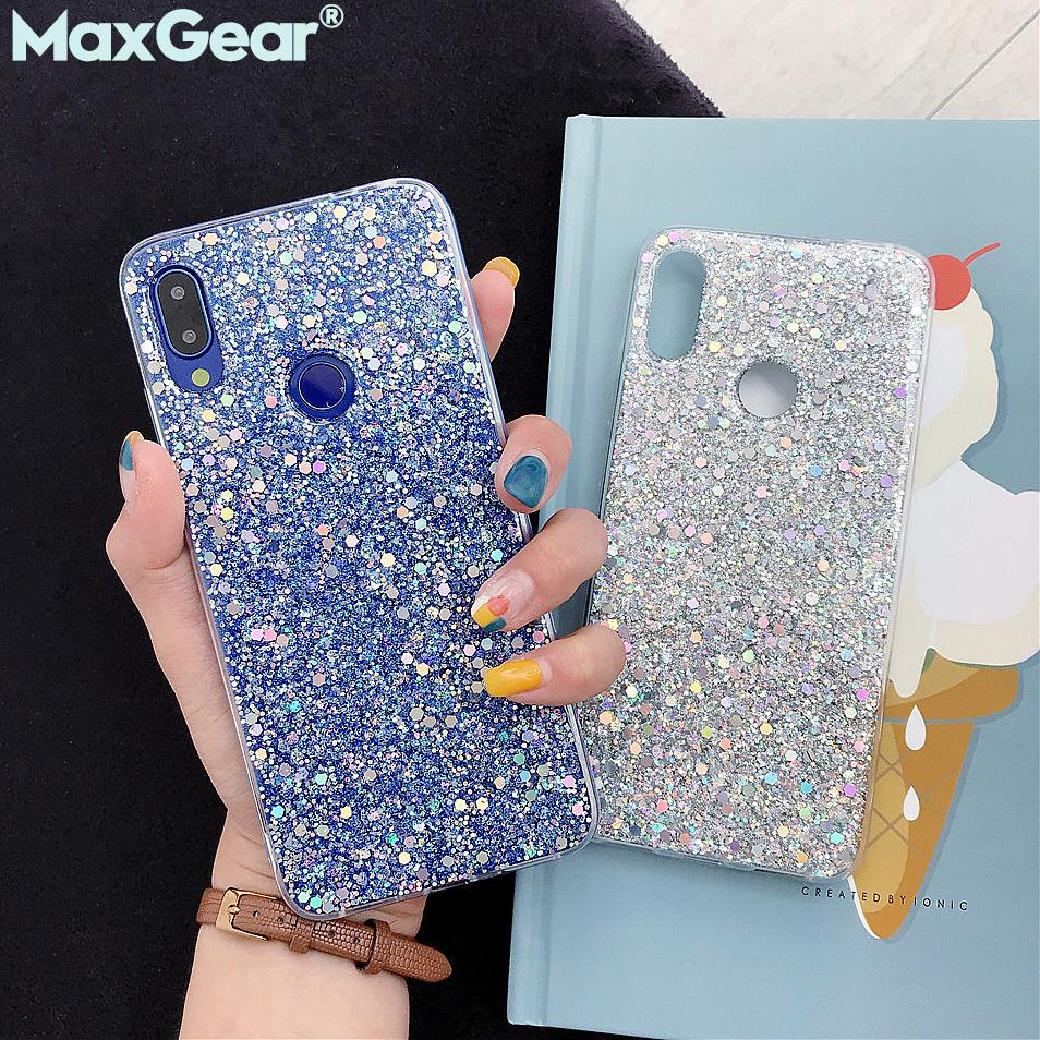 Bling Glitter <font><b>Case</b></font> For Xiaomi <font><b>Mi</b></font> 9 8 Mi8 Mi9 SE A2 Lite <font><b>8SE</b></font> Crystal Sequins Silicone Cover Redmi 5 Plus Note 7 6 Pro Note7 Funda image