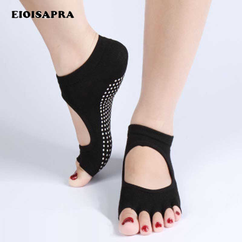 [EIOISAPRA]Ballet Dance Half Toe Ankle Grip Socks