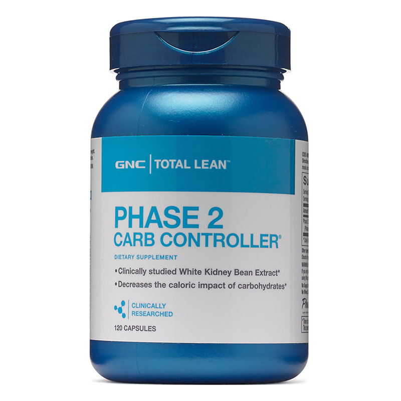 Phase 2 carb controller white kidney bean extract 120 pcs decreases the caloric impact of carbohydrates carbohydrates 14