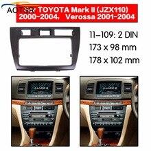Радио Facia для Toyota Mark II (JZX110)/Verossa 2000-2004 двойной Din фасции автомобиля стерео радио установки приборной панели в наличии