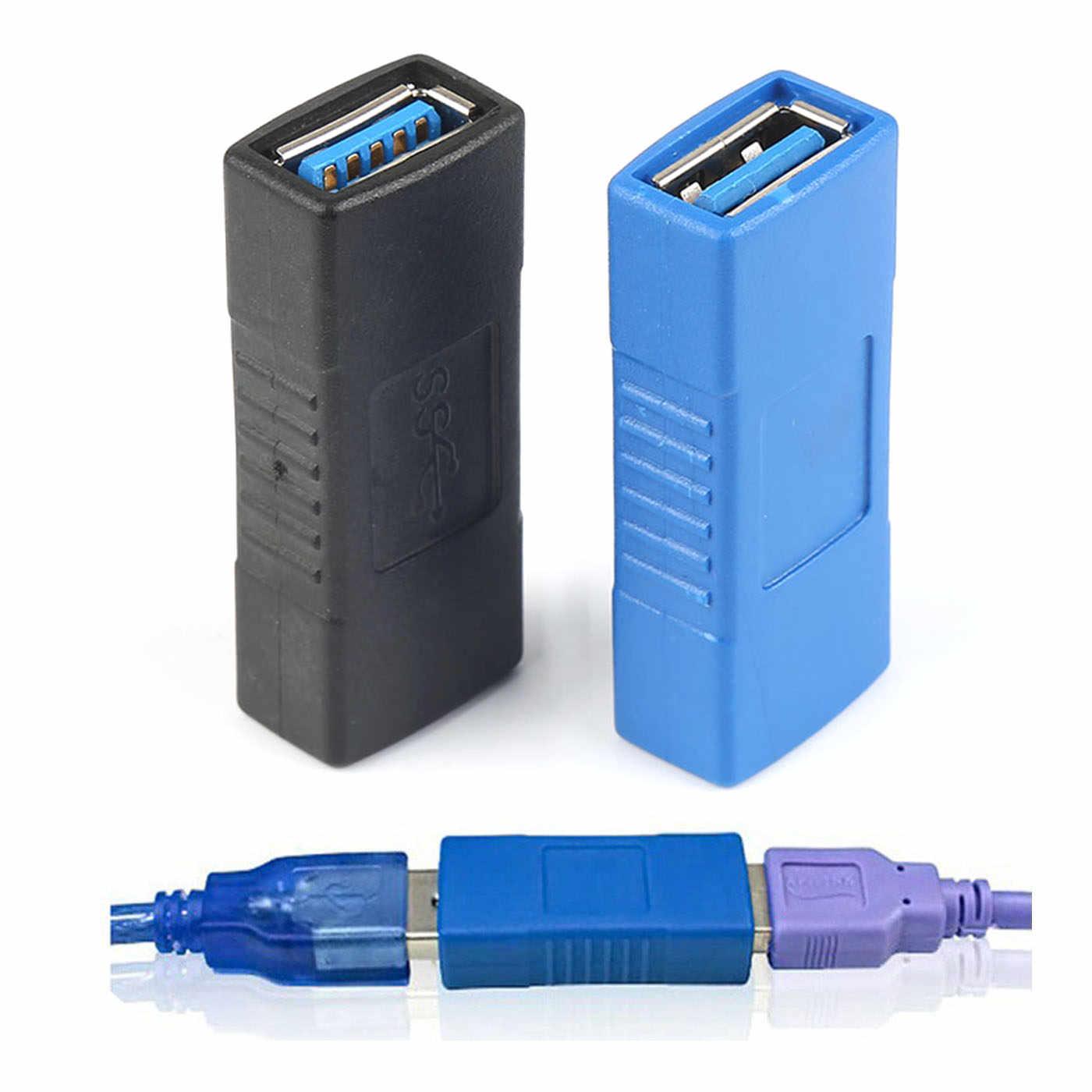 1 adet USB 3.0 adaptör konnektörü tip A dişi dişi kuplör değiştirici konektörü dayanıklı PC dizüstü bilgisayar için