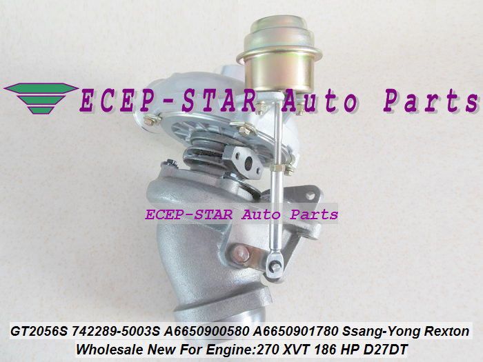 Gt2056s 742289 742289-5003s Turbocharger A6650900580 A6640900580 Turbine For Ssang-yong Rexton 270 Xvt 186 Hp D27dt Air Intakes