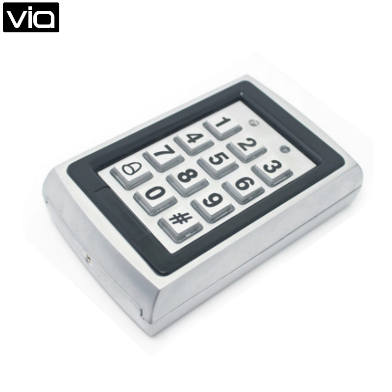 FC-898E  Free Shipping 125KHZ RFID Access Controller Stainless Steel Shell Waterproof Keyboard for Electric Door Lock купить