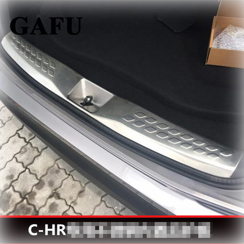 For toyota chr 2017 2018 Stainless Steel Rear Bumper Trunk Fender Sill Plate Protector Guard Covers for suzuki sx4 s cross 2013 2014 car rearguards stainless steel rear bumper trunk fender sill plate protector guard covers