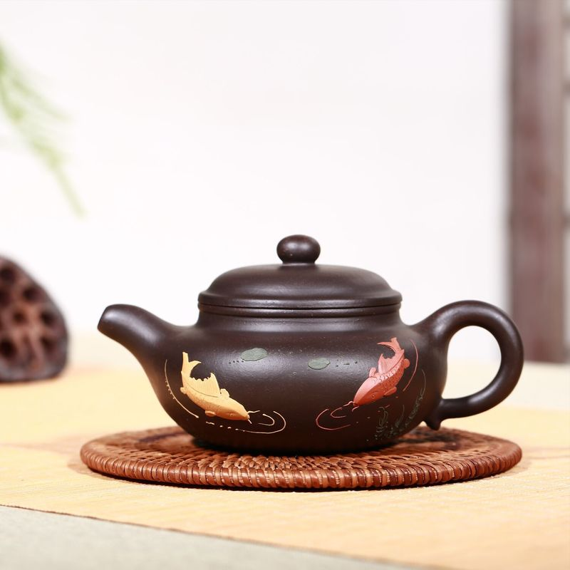 Hand-made Small Size Large Capacity Carving Household Stone Pork Imitating Ancient Xishi Pot Making Teapot and Tea SetHand-made Small Size Large Capacity Carving Household Stone Pork Imitating Ancient Xishi Pot Making Teapot and Tea Set