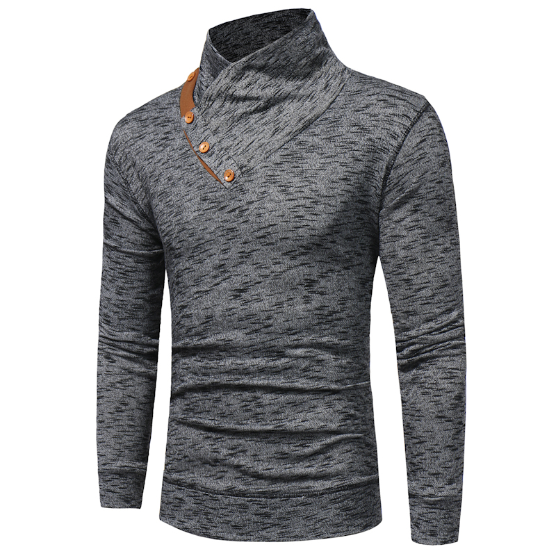 Brand 2018 Pullover Stand Collar Knitted Men Fashion Tracksuit Male Sweatshirt Hoody Men ...