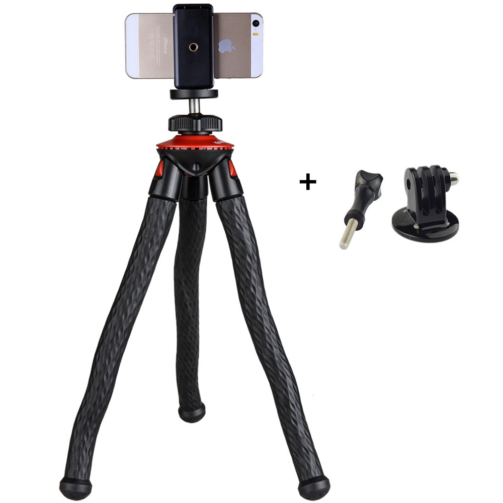 Hot Selling Portable Mini Tripod With Phone Holder Adapter Mount Flexible Tripod For GoPro Action Camera