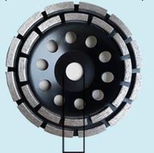 цена на 4  22 segments Diamond Double Row Grinding Cup Wheel Concrete Granite Masonry Stone Ceramics 4 inch 100 mm